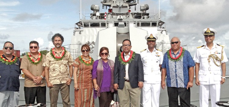 Indian stealth frigate visits Majuro