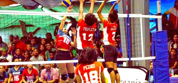 RMI volleyball women set pace