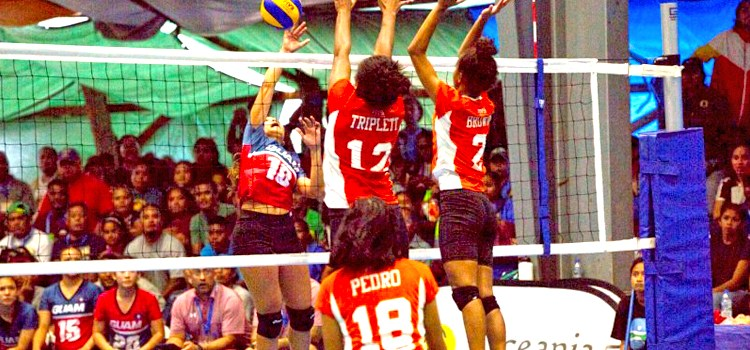 RMI volleyball women set pace