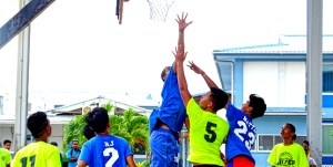 Ferocious action at CMI's SSG Solomon Sam Sports Court.