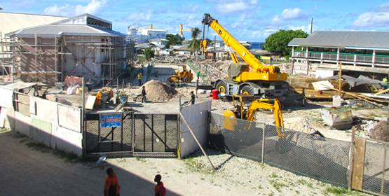 Ebeye school work moving fast