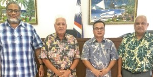 From left: High Court Chief Justice Carl Ingram, retired District Court Presiding Judge Milton Zackios, District Court Judge Tarry Paul, and High Court Judge Witten Philippo.