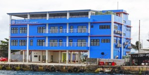 MIMRA's new headquarters in Delap as seen from the lagoon. Photo: Hilary Hosia.