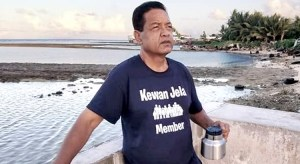 """Arthur Kaylor Laukon, who died earlier this week in Honolulu, in a recent photo taken by his """"Jenrok Hotspot,"""" from which he managed Kewan Jela."""