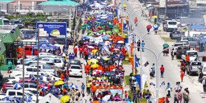 Thousands of people turned out for Constitution Day ceremonies May 1 in Majuro. Photo: Hilary Hosia.