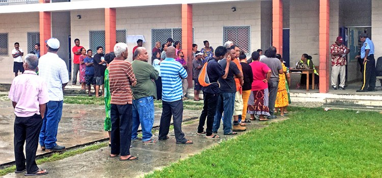 Turnout mixed in Majuro