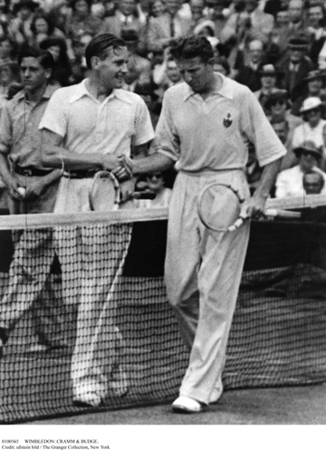 In the 1937 Wimbledon Championships, two weeks before the Davis Cup, Cramm and Budge met in the finals, each seeking his first title. The two impeccable sportsmen met at the net afterwards. Who won the match, and who lost?