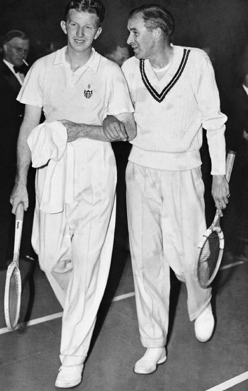 Bill Tilden and Don Budge