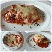 homemade wholewheat meat lasagna