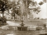 Project: Fountain. The Original 1889 Fountain. In the background is the original Chester County Hospital! Photo: Historic Postcard