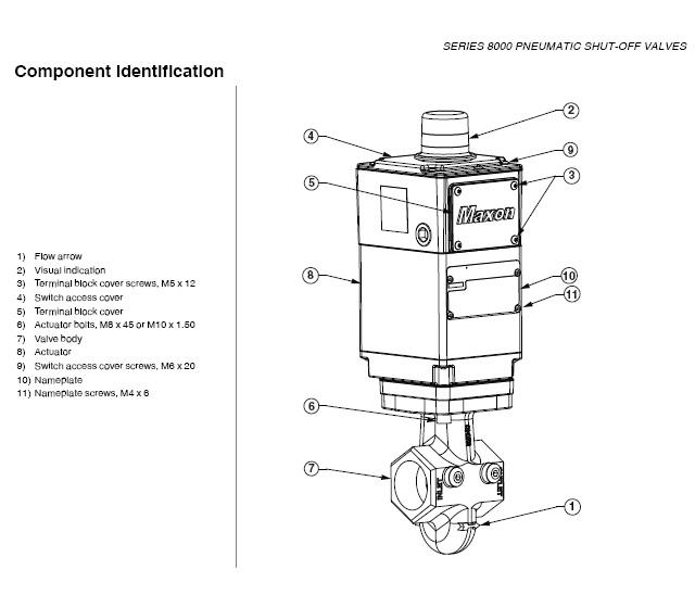 Honeywell Maxon 8000 Series Electro-Pneumatic Gas Shut Off
