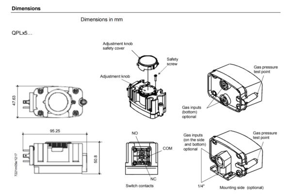 Siemens Gas Pressure Switches