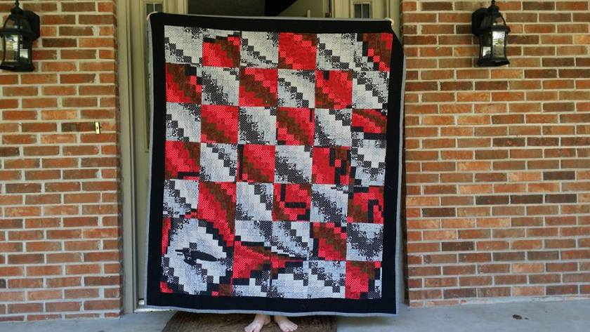 Star Trek Quilt Bargello 2