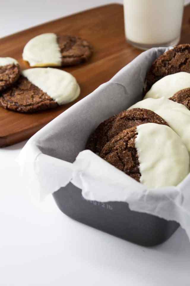 White Chocolate Dipped Ginger Cookies | Marsha's Baking Addiction