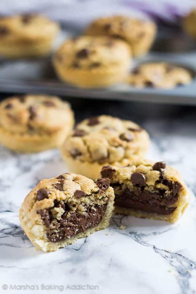 Nutella Stuffed Chocolate Chip Cookie Pies | Marsha's Baking Addiction
