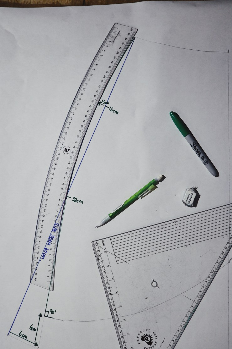 Use your curve ruler to help with drawing lines