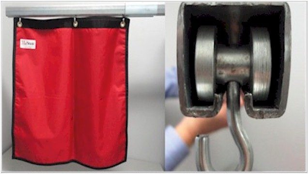 lead shielded curtain track system