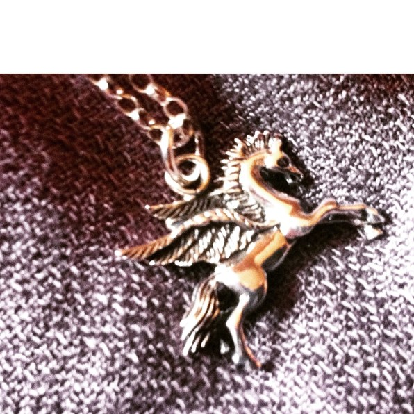 Pegasus necklace - silver jools at www.ebay.co.uk