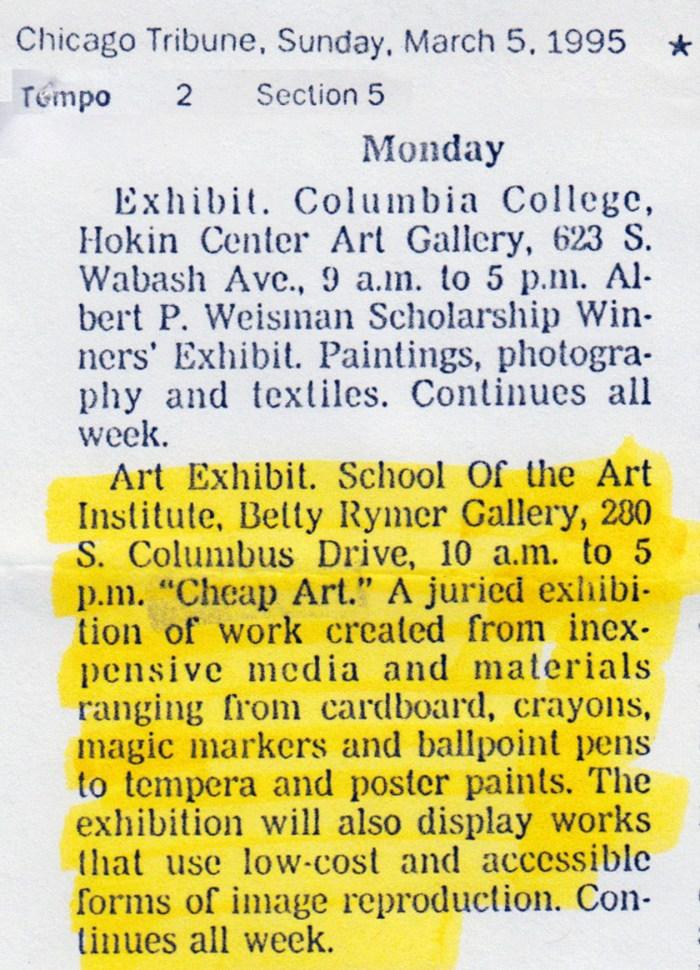 Chicago Tribune, March 5, 1995
