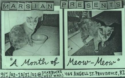 Month of Meow ©2002, Marsian De Lellis