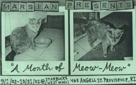 Month of Meow ©2002, Marsian De Lellis