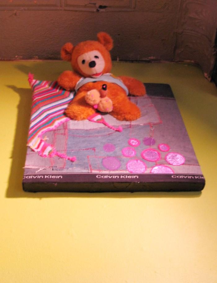 """STD Teddy"", Puppet Trash, 2004, AS220, Providence, photo: Marsian De Lellis"
