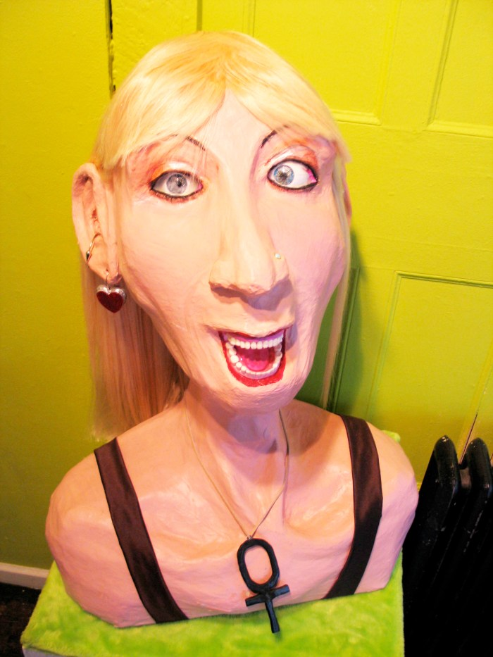 """Aunt Kate"", Puppet Trash, 2004, AS220, Providence, photo: Marsian De Lellis"