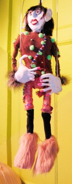 "lindamerge2-opt ""Linda Carvel"" (detail), Puppet Trash, 2004, AS220, Providence, photo: Marsian De Lellis"