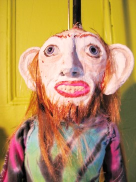 "teri-b-opt ""Terry (Linda's Dealer)"", Puppet Trash, 2004, AS220, Providence, photo: Marsian De Lellis"