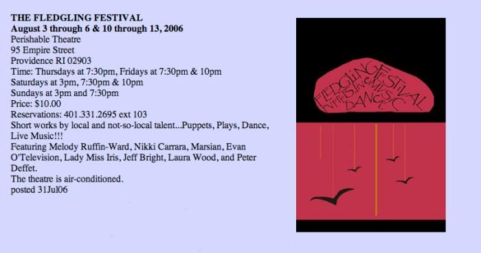 Jackson's Private Zoo, Fledgling Festival, 2006