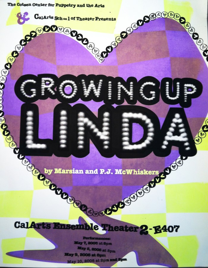 Growing Up Linda, poster 2008, Anne Mills Coté