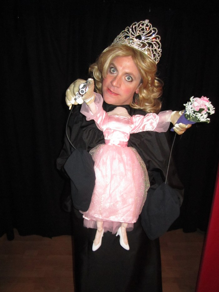 humanette puppet design Julie Brown's Home Coming Queen's Got a Musical with Drew Droege, Los Angeles, 2013