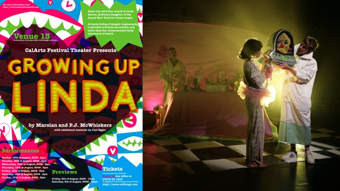 Growing Up Linda - Edinburgh, 2008, poster Anne Mills Coté