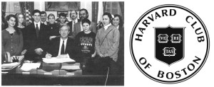 Governor Weld signs the Gay & Lesbian Student Rights Law, 1993