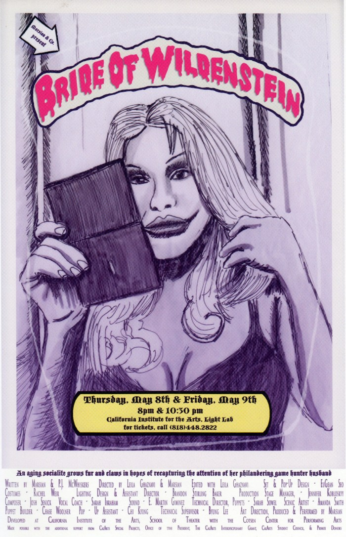 2009-05-08-Bride-Poster-150dpi-edit Bride of Wildenstein CalArts poster 2009