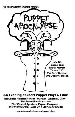 Puppet Apocalypse poster Winnipeg Fudgie's Death 2010