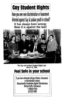 Gay Student Rights Law Poster, 1994