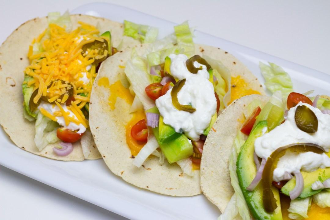 Veggie Tacos mit Crispy Cheese