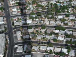 "Neighborhoods with the shadow of the ""Stratosphere""."
