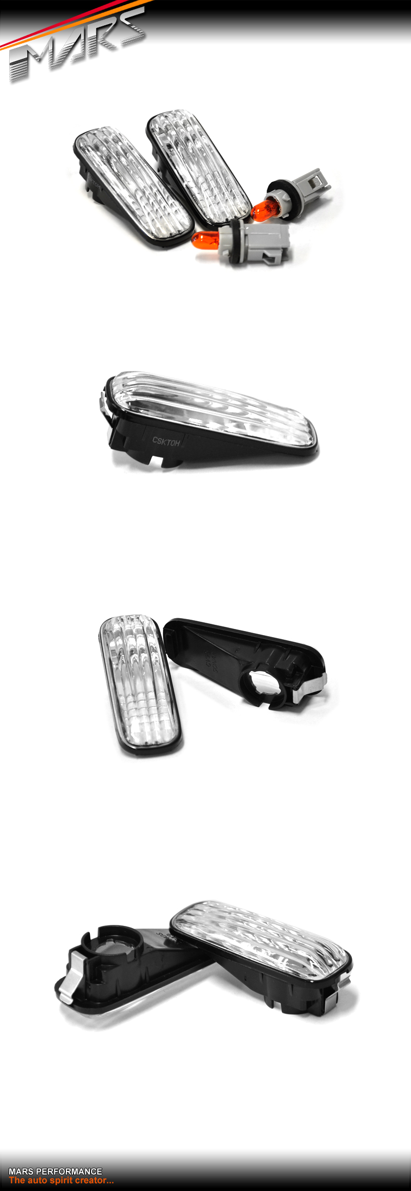 Crystal Clear Side Indicator Turn Signal Marker lights for