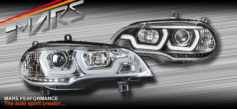 Black LED DRL projector Head Lights for BMW XSeries X5