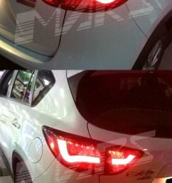 clear red 3d led stripe bar tail lights for mazda cx 5 ke 12 15 led [ 800 x 1498 Pixel ]