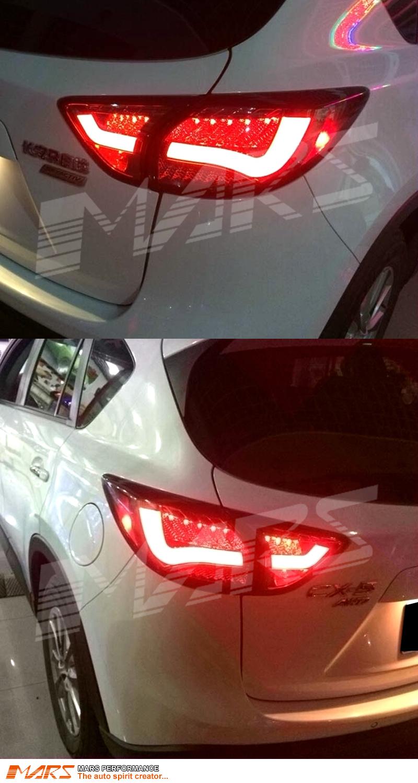 hight resolution of clear red 3d led stripe bar tail lights for mazda cx 5 ke 12 15 led