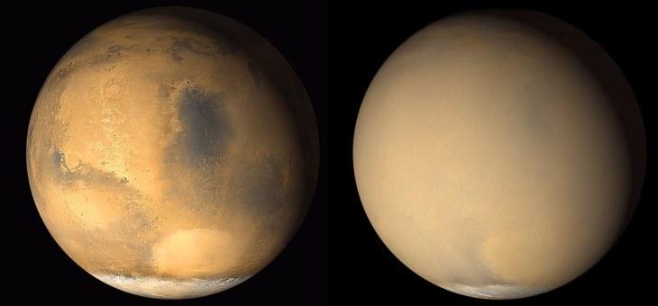 Mars Tozları Yüzeydeki Kırışıklıkları Gideriyor