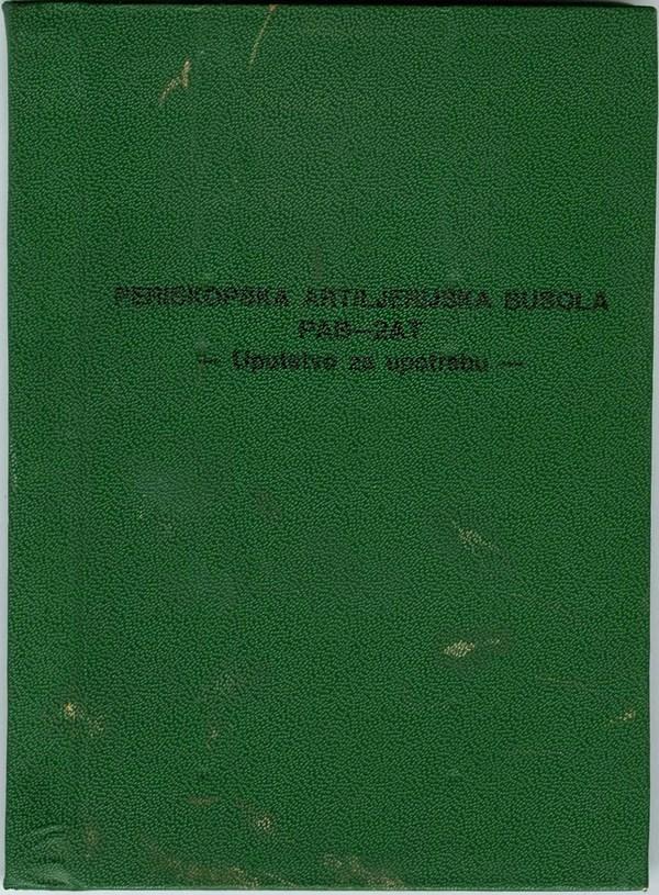 Original Service Manual - Artillery Scope