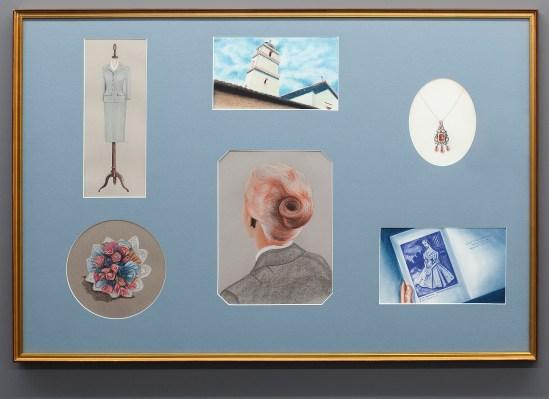 Vértigo. Dibujo, lápiz y pastel sobre papel montados en passepartout con ventanas. 80 x 120 cm.