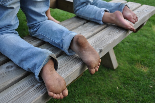 blote voetjes