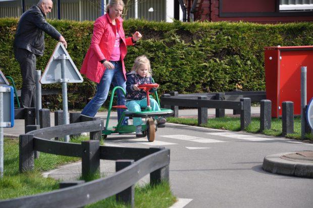 Erg leuk in het kleine kinderendeel: het verkeersplein.