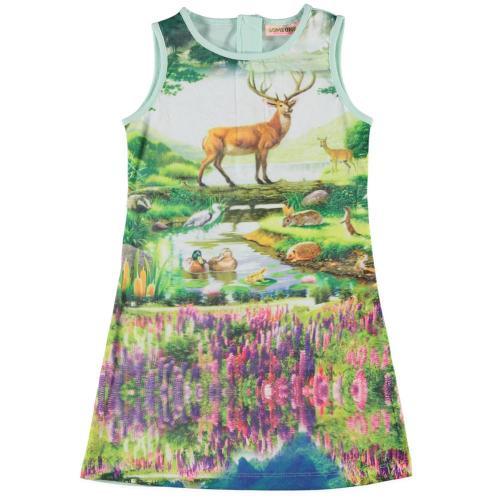 Dit Someone jurkje heeft een sprookjesachtige print, ze hebben ook een roze jurk in de collectie die ik prachtig vind... Hoop dat mijn dochters er ook bij wegdromen.