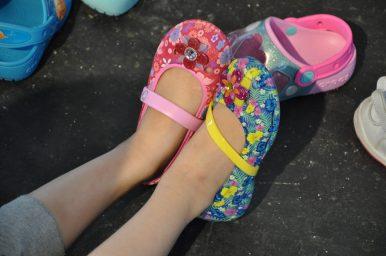 bloemenballerina crocs